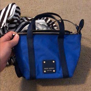 Henri Bendel blue cross body purse, never used